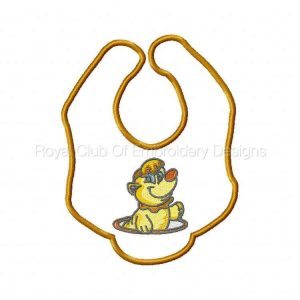 Royal Club Of Embroidery Designs - Machine Embroidery Patterns Baby Bibs Set