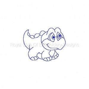 Royal Club Of Embroidery Designs - Machine Embroidery Patterns Baby Dinos Redwork Set