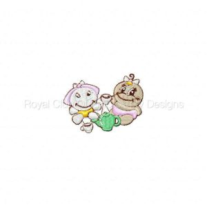 Royal Club Of Embroidery Designs - Machine Embroidery Patterns Baby Girls Set
