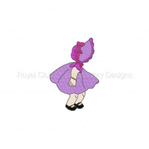 Royal Club Of Embroidery Designs - Machine Embroidery Patterns DD Baby Sunbonnets Set