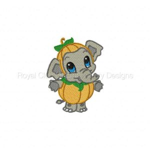 Royal Club Of Embroidery Designs - Machine Embroidery Patterns Baby Zoo Pumpkins Set