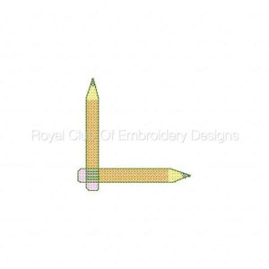 Royal Club Of Embroidery Designs - Machine Embroidery Patterns Back to School Cross Stitch Set