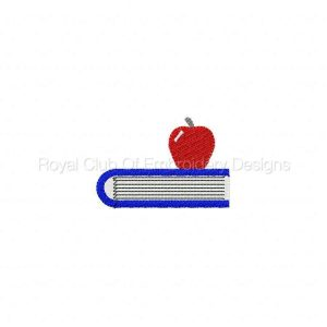 Royal Club Of Embroidery Designs - Machine Embroidery Patterns Back to School 2 Set