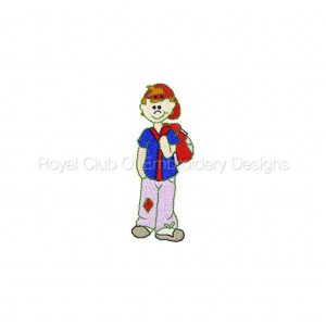 Royal Club Of Embroidery Designs - Machine Embroidery Patterns DD Back To School Set