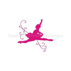 Royal Club Of Embroidery Designs - Machine Embroidery Patterns Ballerina Set