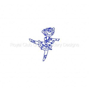 Royal Club Of Embroidery Designs - Machine Embroidery Patterns Ballerina RW Set