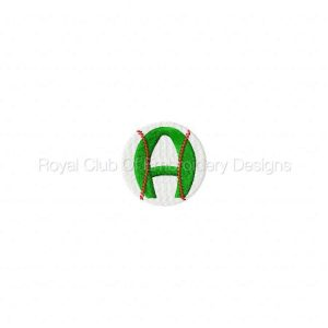 Royal Club Of Embroidery Designs - Machine Embroidery Patterns Baseball Alphabet Set