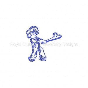 Royal Club Of Embroidery Designs - Machine Embroidery Patterns Baseball Time Set