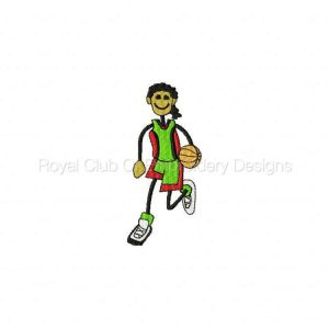 Royal Club Of Embroidery Designs - Machine Embroidery Patterns Basket Ball Kids Set