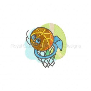 Royal Club Of Embroidery Designs - Machine Embroidery Patterns DD Basky Basketballs Set