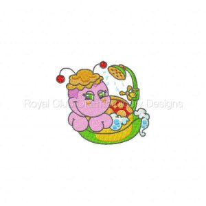 Royal Club Of Embroidery Designs - Machine Embroidery Patterns DD Bath Time Ladybugs Set