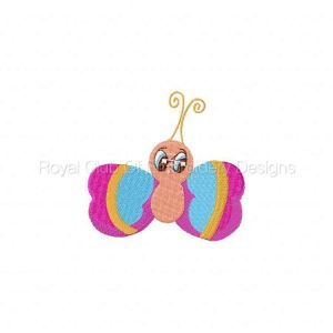 Royal Club Of Embroidery Designs - Machine Embroidery Patterns Binky Bib Bug Holders Set
