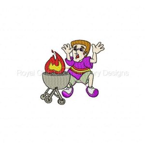 Royal Club Of Embroidery Designs - Machine Embroidery Patterns BarBQ Time Set