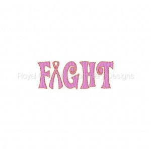 Royal Club Of Embroidery Designs - Machine Embroidery Patterns Breast Cancer Awareness 2 Set