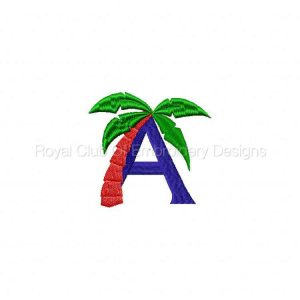 Royal Club Of Embroidery Designs - Machine Embroidery Patterns Beach Alphabet Set