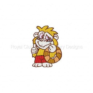 Royal Club Of Embroidery Designs - Machine Embroidery Patterns Beach Monkeys Set