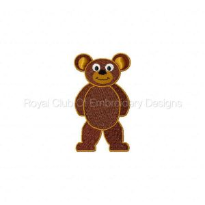 Royal Club Of Embroidery Designs - Machine Embroidery Patterns Bear Paper Doll Set