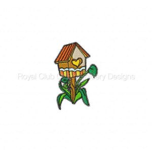 Royal Club Of Embroidery Designs - Machine Embroidery Patterns Beautiful Birdhouses Set