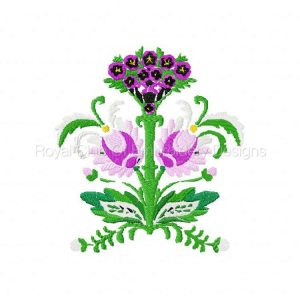 Royal Club Of Embroidery Designs - Machine Embroidery Patterns DD Beautiful Florals Set