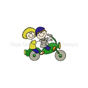 Royal Club Of Embroidery Designs - Machine Embroidery Patterns Cool Bike Week Stickies Set