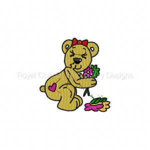 Royal Club Of Embroidery Designs - Machine Embroidery Patterns Belinda the Bear Set