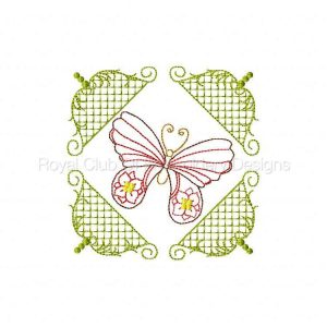 Royal Club Of Embroidery Designs - Machine Embroidery Patterns Elegant Butterfly Quilt Blocks Set