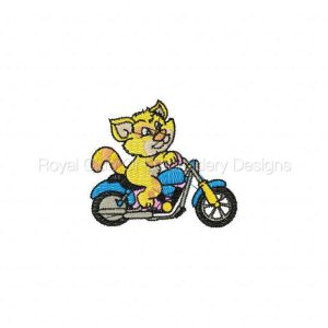 Royal Club Of Embroidery Designs - Machine Embroidery Patterns Biker Catz Set