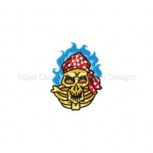 Royal Club Of Embroidery Designs - Machine Embroidery Patterns Bike Week Skulls Set