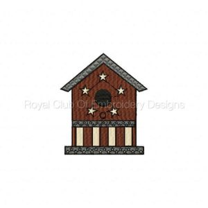 Royal Club Of Embroidery Designs - Machine Embroidery Patterns DD Bird Houses Set