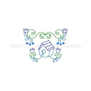Royal Club Of Embroidery Designs - Machine Embroidery Patterns Birdhouses and Borders Set