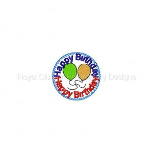 Royal Club Of Embroidery Designs - Machine Embroidery Patterns Birthday Suckers Set