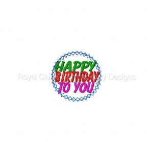Royal Club Of Embroidery Designs - Machine Embroidery Patterns Birthday Suckers Set 2 Set