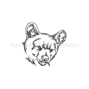 Royal Club Of Embroidery Designs - Machine Embroidery Patterns Black Work Bears Set