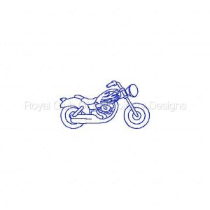 Royal Club Of Embroidery Designs - Machine Embroidery Patterns Bluework Bikes Set