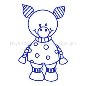 Royal Club Of Embroidery Designs - Machine Embroidery Patterns Bluework Farm Animals Set
