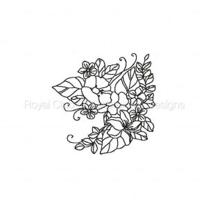 Royal Club Of Embroidery Designs - Machine Embroidery Patterns Bluework Florals Set