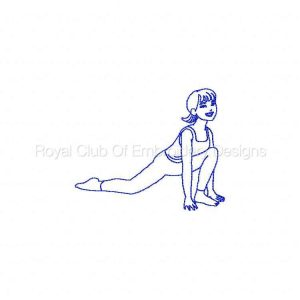 Royal Club Of Embroidery Designs - Machine Embroidery Patterns Bluework Yoga Set