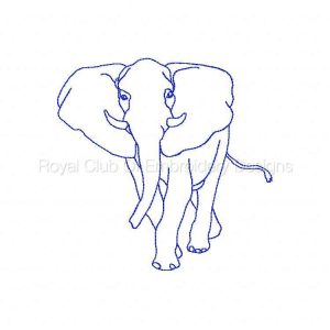 Royal Club Of Embroidery Designs - Machine Embroidery Patterns Blackwork African Animals Set