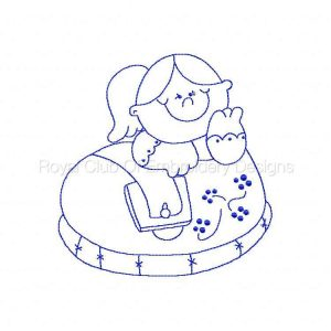 Royal Club Of Embroidery Designs - Machine Embroidery Patterns Bluework Living in a Shoe Set