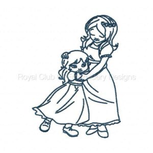 Royal Club Of Embroidery Designs - Machine Embroidery Patterns Bluework Mother Daughter Set
