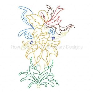 Royal Club Of Embroidery Designs - Machine Embroidery Patterns Bonnet Fairies Set