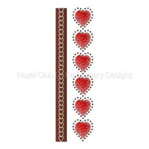 Royal Club Of Embroidery Designs - Machine Embroidery Patterns Border Hearts Set
