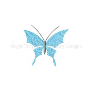 Royal Club Of Embroidery Designs - Machine Embroidery Patterns Borderless Butterflies Set