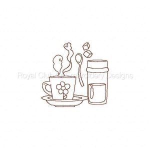 Royal Club Of Embroidery Designs - Machine Embroidery Patterns Break Time Redwork Set