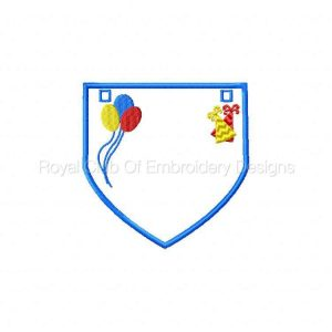 Royal Club Of Embroidery Designs - Machine Embroidery Patterns Birthday Buntings Set
