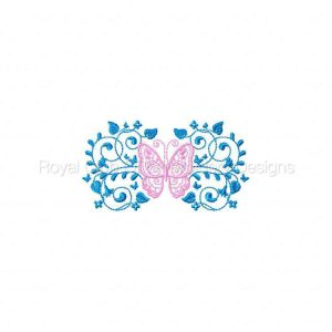Royal Club Of Embroidery Designs - Machine Embroidery Patterns Butterfly Borders and Corners Set