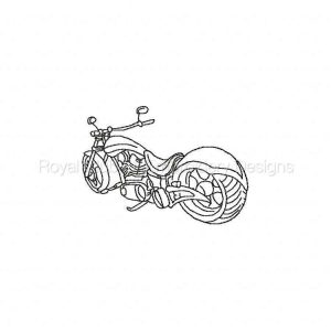 Royal Club Of Embroidery Designs - Machine Embroidery Patterns Bike Week 2015 Chopper Fever Set