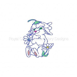 Royal Club Of Embroidery Designs - Machine Embroidery Patterns BW Cute Bunnies Set