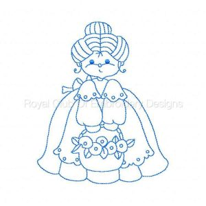 Royal Club Of Embroidery Designs - Machine Embroidery Patterns Line Art Grannies Set