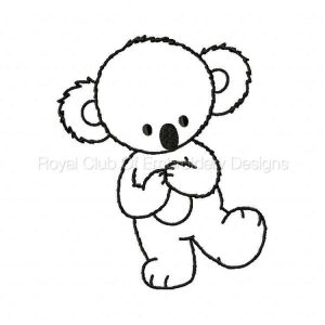 Royal Club Of Embroidery Designs - Machine Embroidery Patterns Blackwork Koalas Set